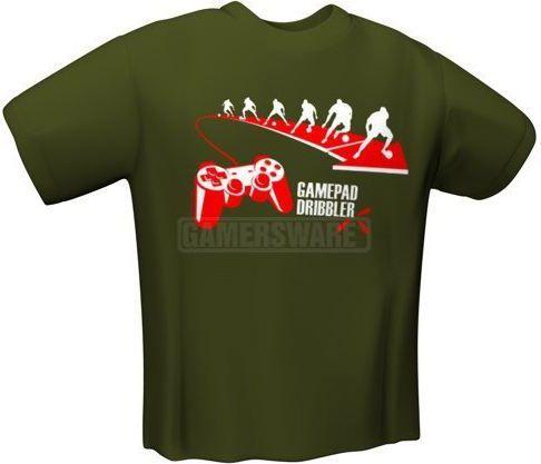 GamersWear GAMEPAD DRIBBLER T-Shirt oliwkowa (XL) ( 6033-XL ) 1