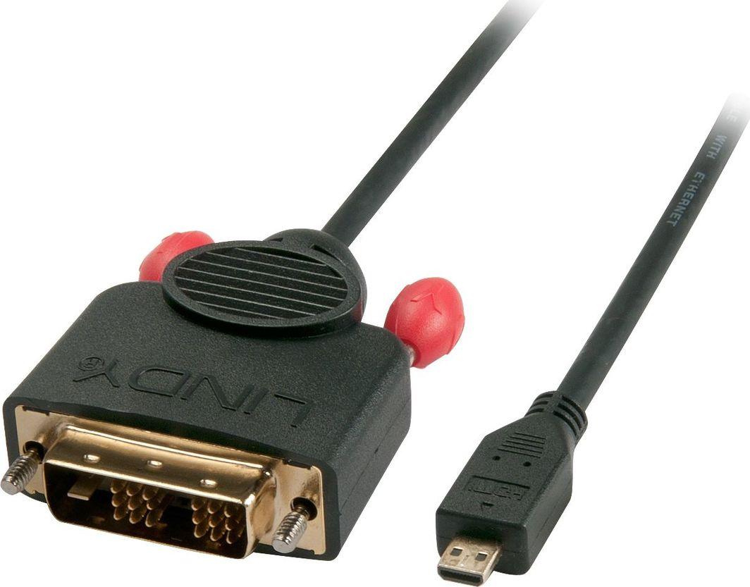 Kabel Lindy HDMI - DVI-D 2m czarny 1