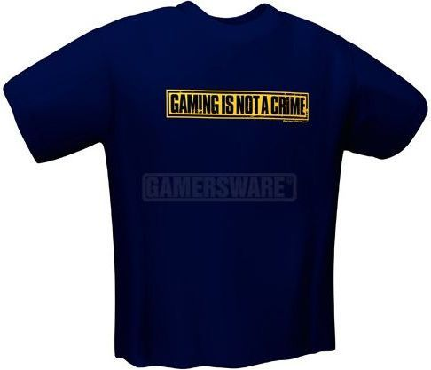 GamersWear NOT A CRIME T-Shirt granatowa (XL) ( 5050-XL ) 1