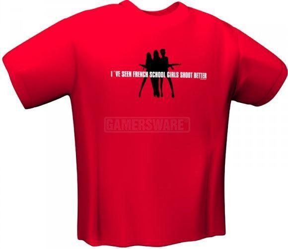 GamersWear SCHOOLGIRLS T-Shirt czerwona (L) ( 5071-L ) 1