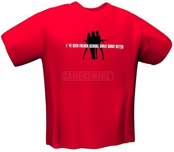 GamersWear SCHOOLGIRLS T-Shirt czerwona (XXL) ( 5071-XXL ) 1