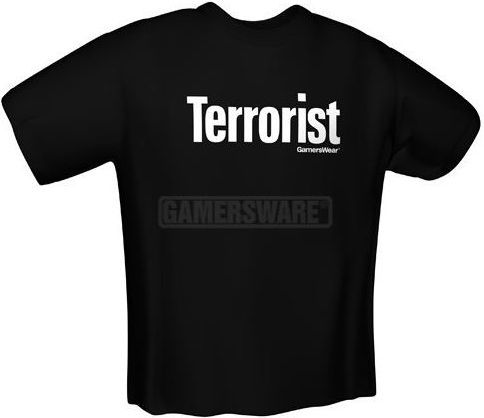 GamersWear TERRORIST T-Shirt czarna (S) ( 5058-S ) 1