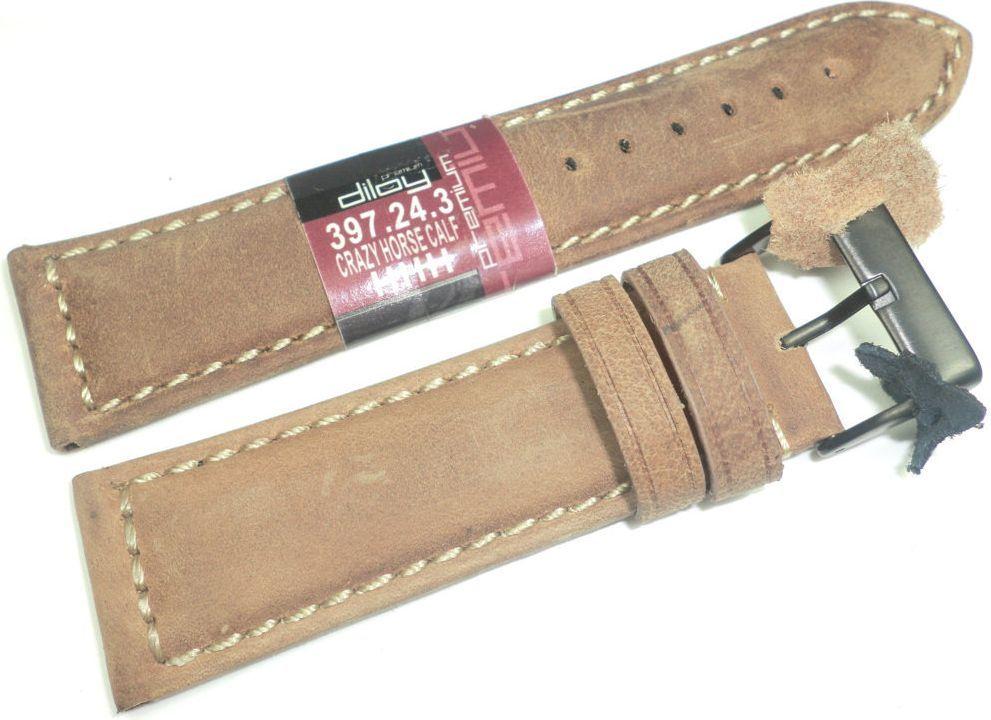 Diloy Zamszowy pasek do zegarka 24 mm Diloy 397.24.3 1