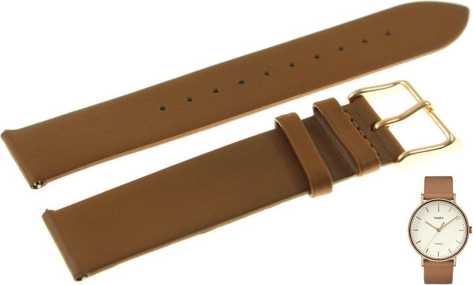 Timex Pasek do zegarka Timex TW2R26200 PW2R26200 20 mm Skóra 1