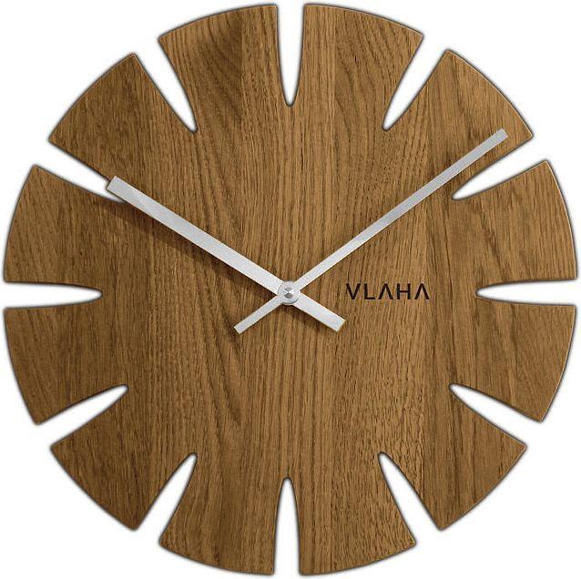 Vlaha Drewniany dębowy ręcznie wykonany zegar ścienny VLAHA VCT1014 1