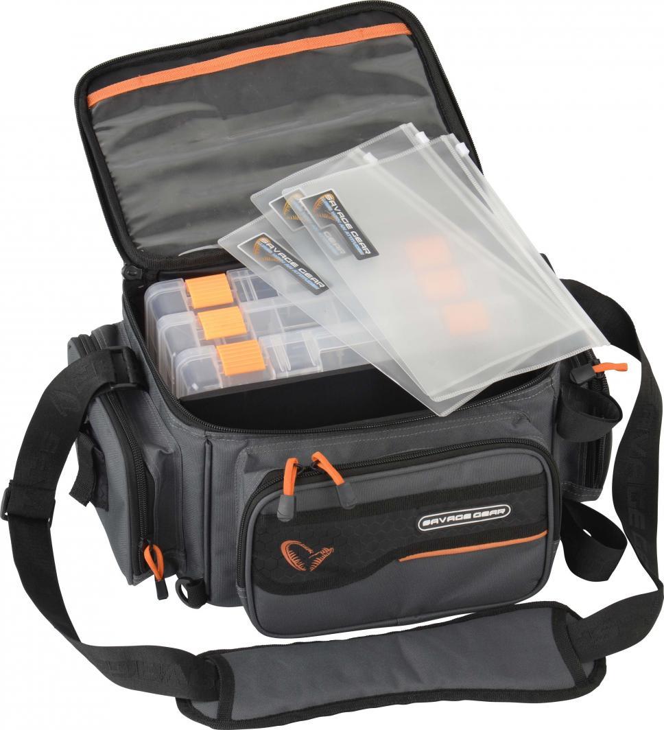 Savage Gear System Box Bag M 3 boxes & PP Bags (20x40x29cm) (54776) ID produktu: 4981966