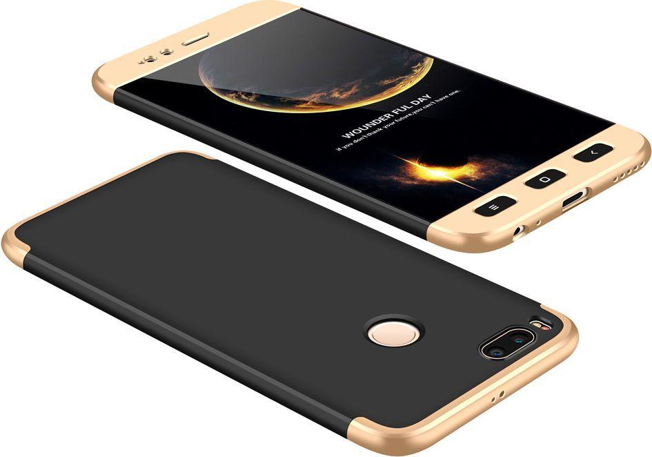 Hurtel 360 Protection etui na całą obudowę przód + tył Xiaomi Mi A1 / Mi 5X czarno-złoty 1