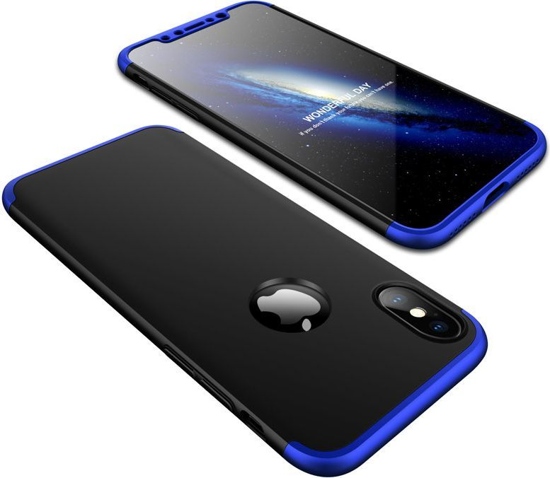 Hurtel 360 Protection etui na całą obudowę przód + tył iPhone X niebieski 1