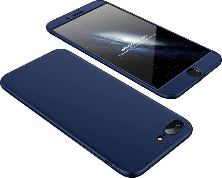 Hurtel 360 Protection etui na całą obudowę przód + tył iPhone 8 Plus / 7 Plus granatowy 1