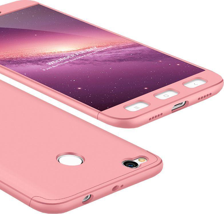 Hurtel Etui Xiaomi Redmi 4X 360 Protection pokrowiec na przód + tył różowy 1