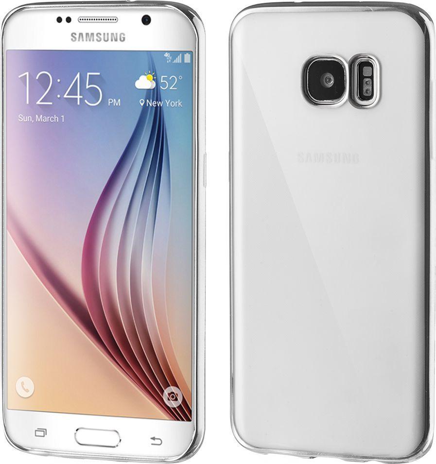 Hurtel Żelowe etui Metalic Slim na Samsung Galaxy S7 Edge G935 srebrne 1