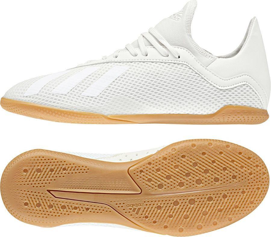 Adidas Buty piłkarskie X Tango 18.3 IN Jr Off White Core Black Gold Met. r. 37 13 (DB2427) ID produktu: 4988370