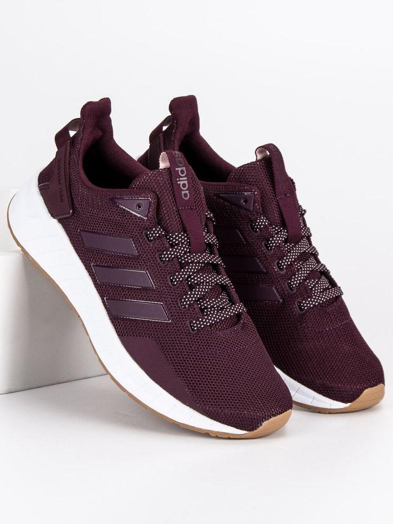 Bordowe buty sportowe adidas