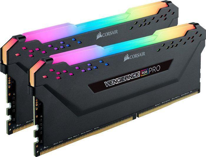 Pamięć Corsair Vengeance RGB PRO, DDR4, 32 GB, 3200MHz, CL16 (CMW32GX4M2C3200C16) 1