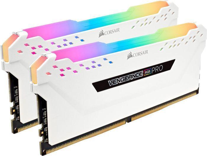 Pamięć Corsair Vengeance RGB PRO, DDR4, 32 GB, 3200MHz, CL16 (CMW32GX4M2C3200C16W) 1