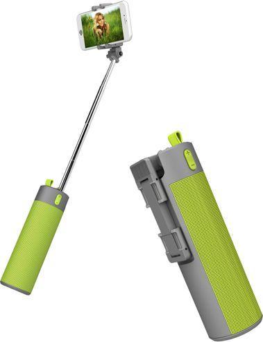 Selfie stick Xrec Głośnik Bluetooth / Kijek Do Selfie / Powerbank - Zestaw 3w1 / Zielony 1