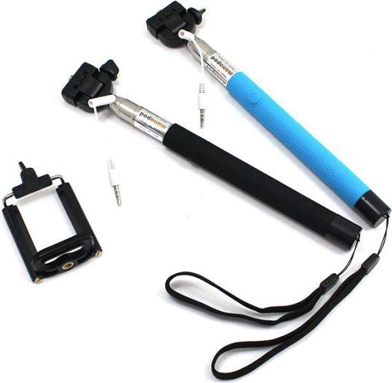 Selfie stick Xrec Selfie Stick - Monopod + Kabel Do Telefonów - Czarny 1