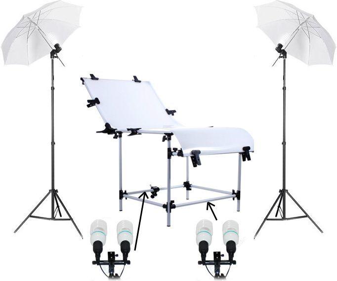 Massa Zestaw OŚwietleniowy + Stół Bezcieniowy 60x130cm 1