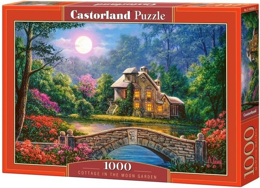 Castorland Puzzle 1000 Cottage in the Moon Garden 1