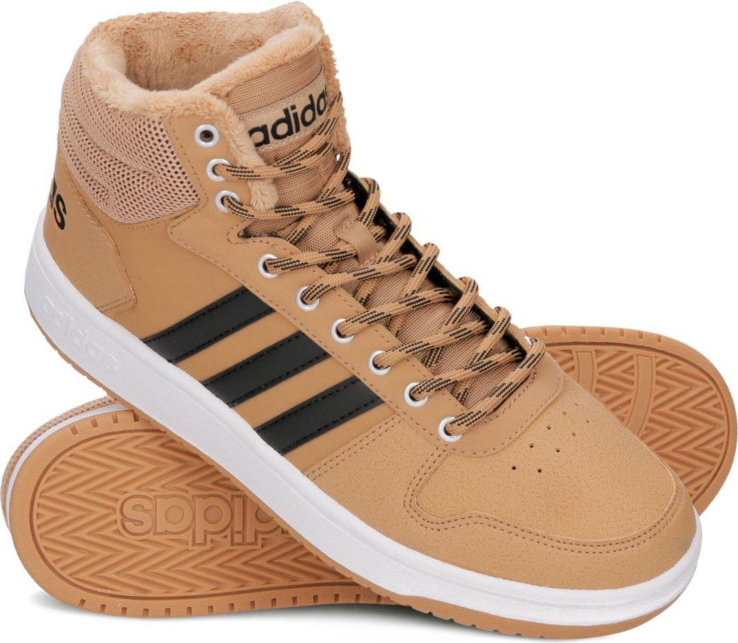 Adidas Buty męskie Hoops 2.0 Mid brązowe r. 46 23 (B44620) ID produktu: 4999028