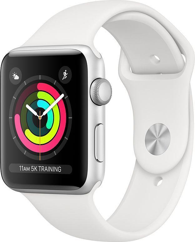 Smartwatch Apple Watch Series 3 GPS 38mm Silver Alu Biały  (MTEY2MP/A) 1