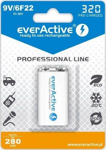 everActive Akumulator Professional Line 9V Block 320mAh 1szt. 1