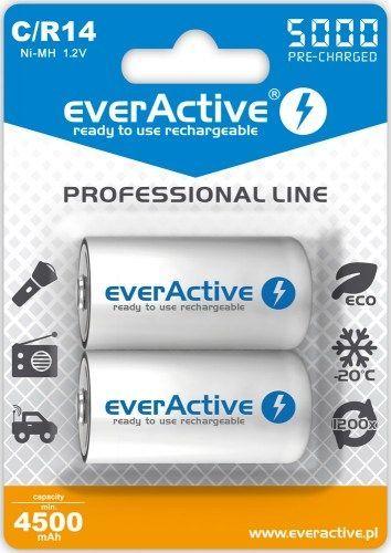 everActive Akumulator Professional Line C / R14 5000mAh 2szt. 1