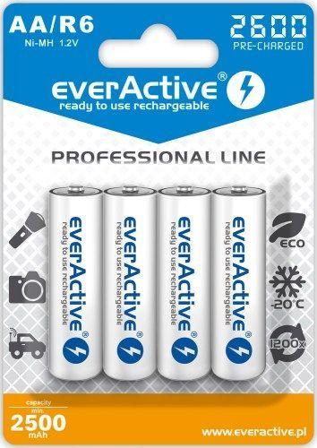everActive Akumulator Professional Line AA / R6 2600mAh 4szt. 1