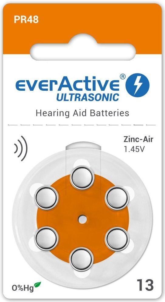 everActive Bateria do aparatów słuchowych PR48 6szt. 1