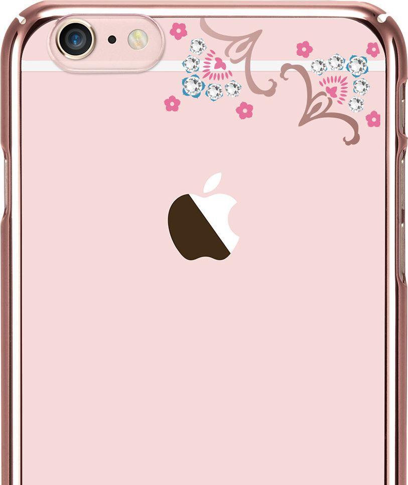 X-FITTED Etui X-FITTED Swarovski IPHONE 6+ Luckyflower jasno różowe PPXHP 1