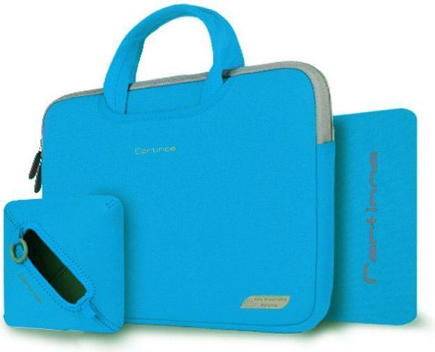 b77f51cfeffe7 Cartinoe Torba na laptopa 13,3 cala, pokrowiec na zasilacz i podkładka  Cartinoe Breath Series niebieska w Morele.net