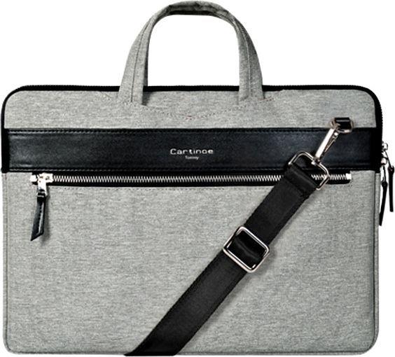 Torba Cartinoe Elegancka torba na laptopa 13,3 cala Cartinoe London Style Series szara 1