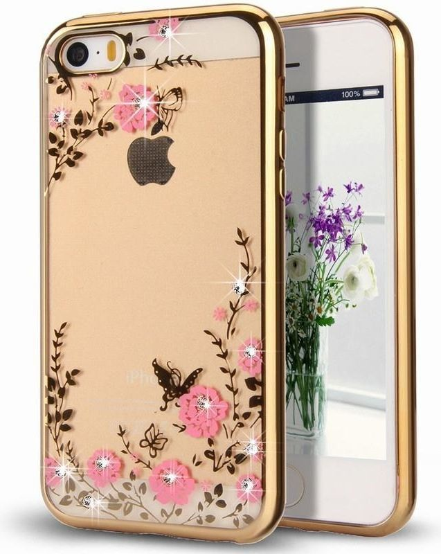 Hurtel Bloomy Case designerskie etui żelowy pokrowiec Samsung Galaxy A6 Plus 2018 A605 złoty 1