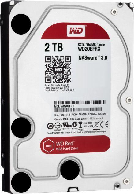 Dysk serwerowy Western Digital Red 2 TB 3.5'' SATA III (6 Gb/s)  (WD20EFRX) 1