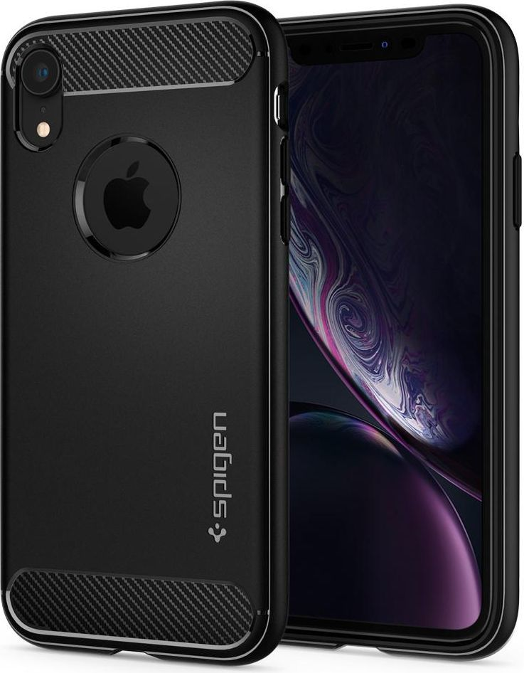 Spigen Nakładka Rugged Armor do Apple iPhone XR czarna (064CS24871) 1