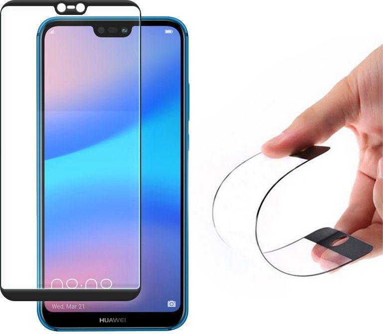 Wozinsky Full Cover Flexi Nano folia szklana z ramką Huawei P20 Lite czarny 1