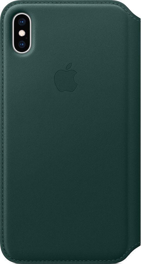 Apple Skórzane etui folio iPhone XS Max - leśna zieleń-MRX42ZM/A 1