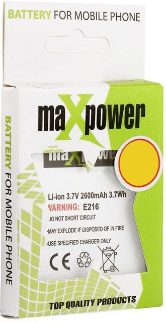 Bateria MAXPOWER do NOKIA 7390/6500s 1050 mAh 1