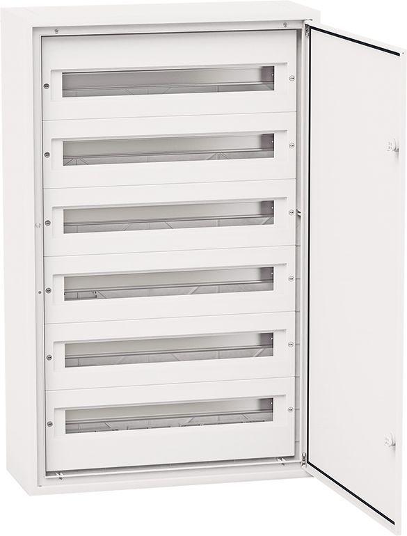 Elektro-Plast Rozdzielnica modułowa 6 x 24 podtynkowa IP54 DARP-144 drzwi alum. (biały 9.624) 1