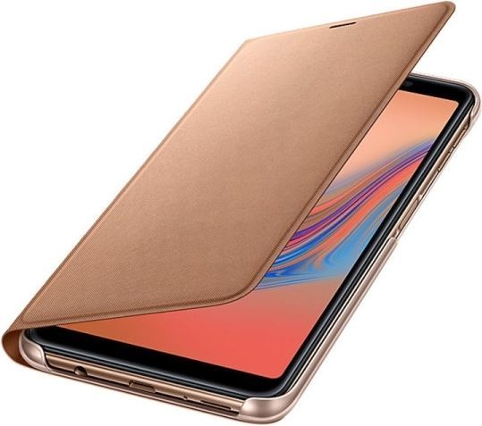 Samsung Wallet cover A7 (2018) Gold 1