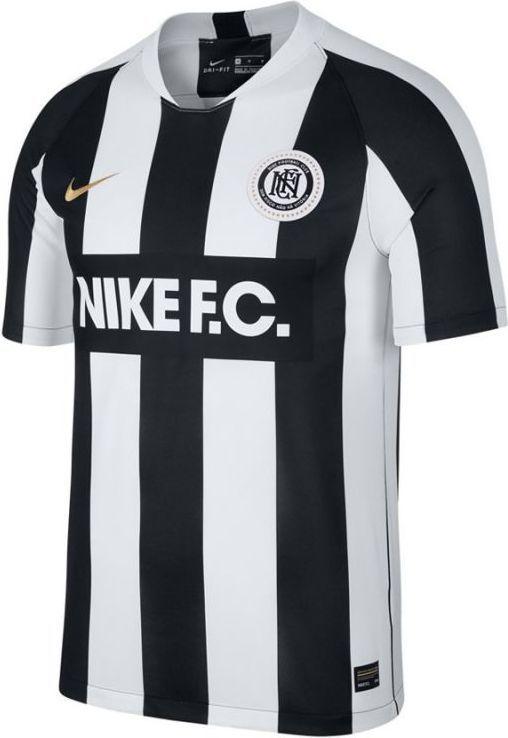 Koszulka męska Nike F.C. czarno szara poliestrowa