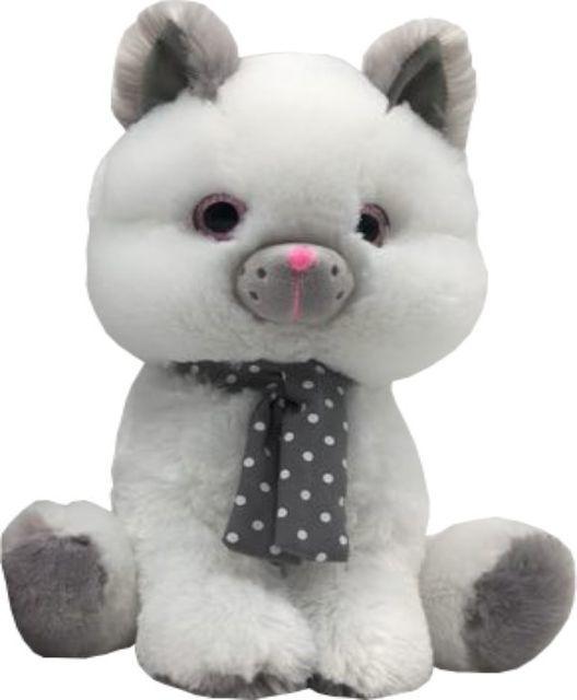 Tulilo Maskotka Kot biały Silver 30 cm 1