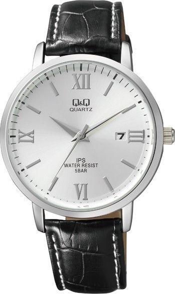 Zegarek Q&Q Męski Klasyczny QZ06-307 z datownikiem czarny 1