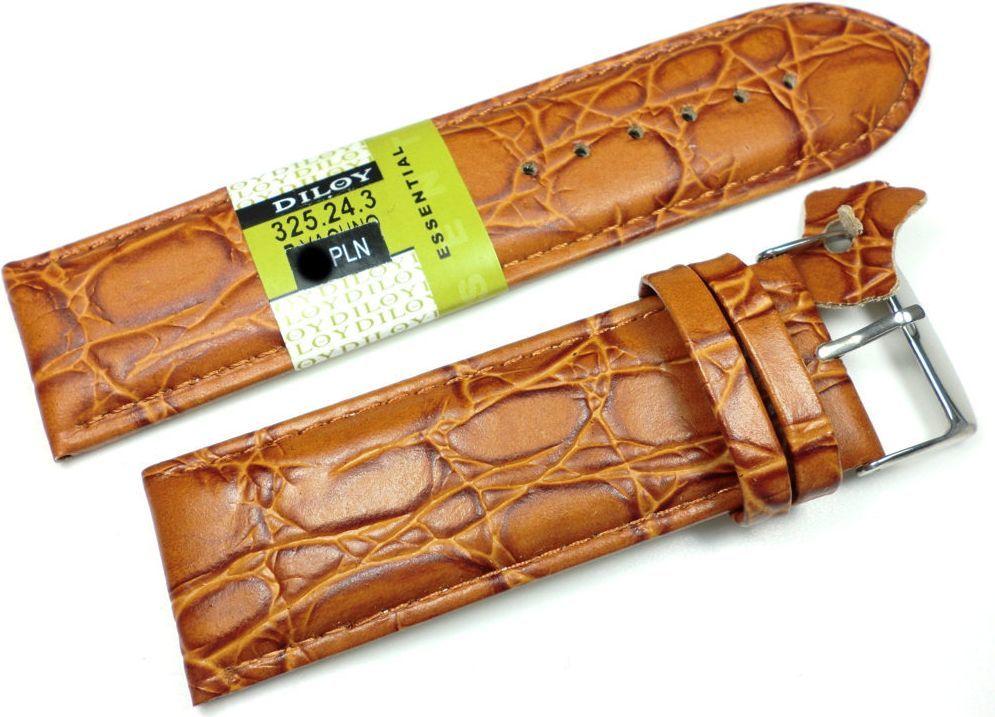 Diloy Skórzany pasek do zegarka 24 mm (325.24.3) 1
