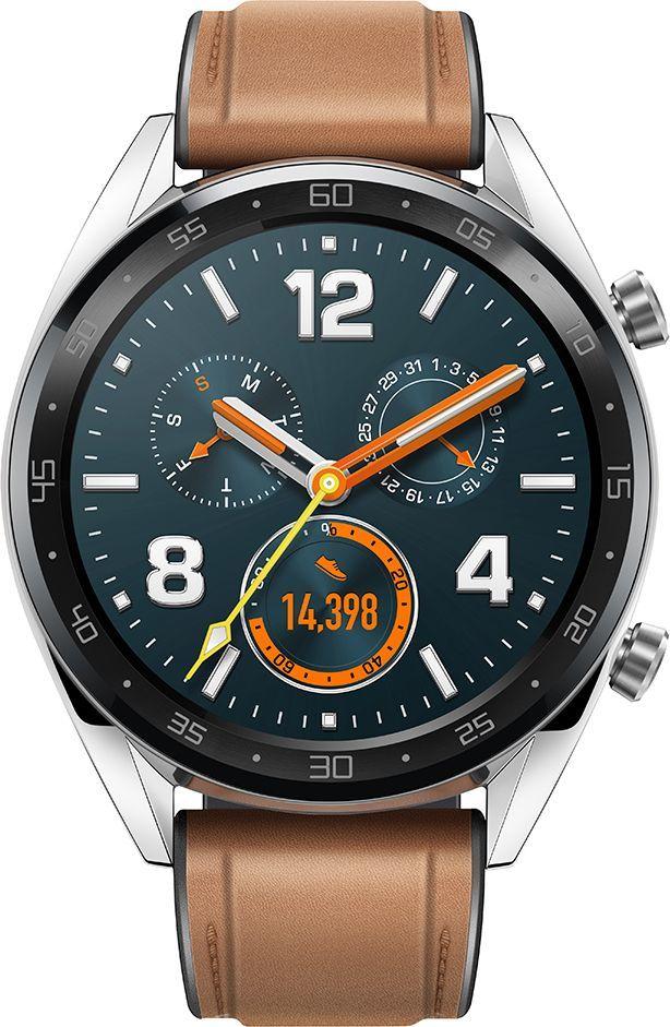 Smartwatch Huawei Watch GT Classic Silver Brązowy  (55023257) 1