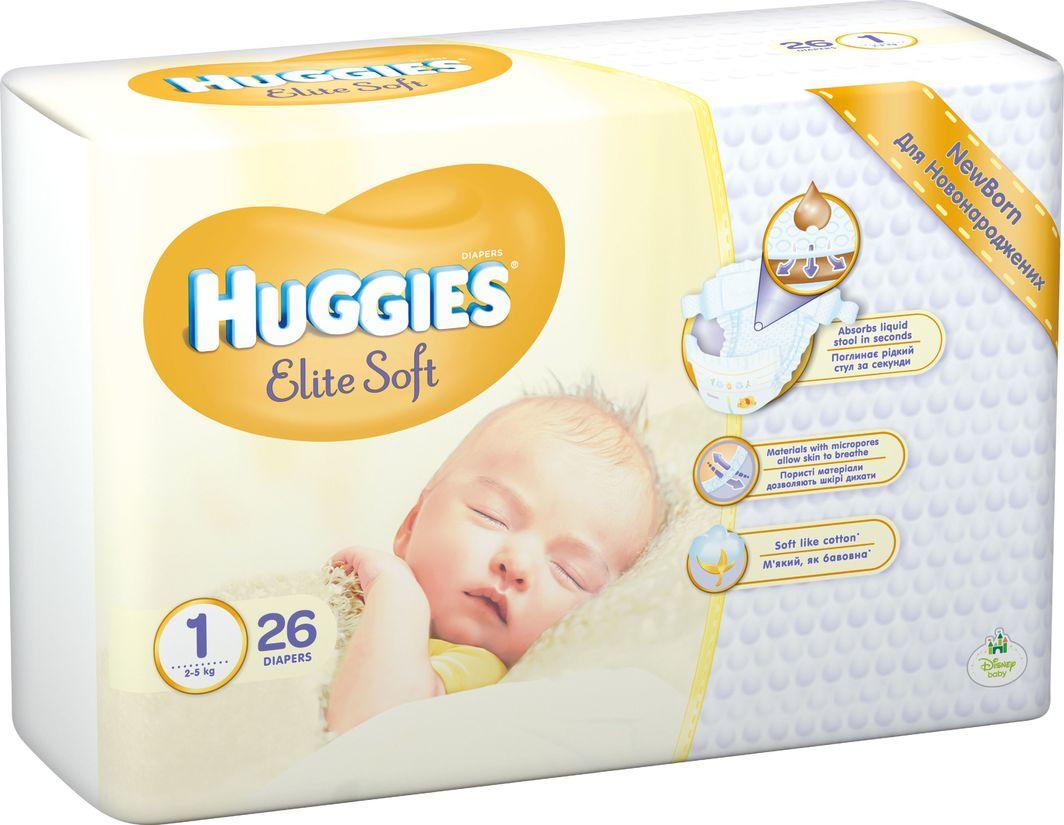 Huggies Pieluszki Elite Soft r. 1 26 szt. 1
