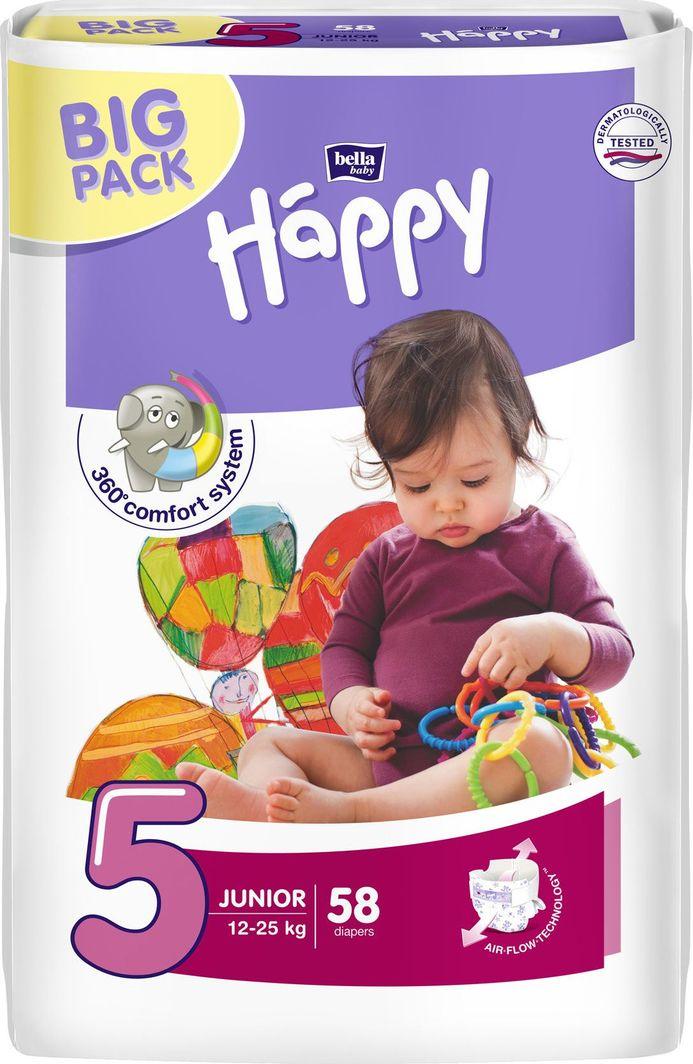 Happy Pieluchy Junior 5 12-25 kg 58 szt. 1