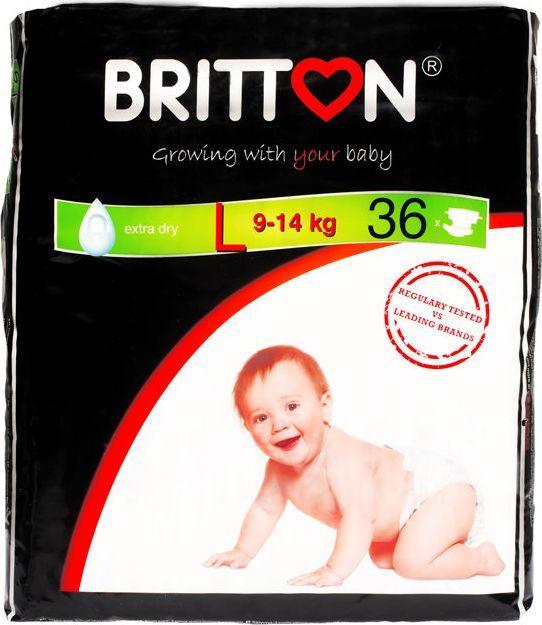 Britton Pieluchy L (9-14 kg) 36szt. 1