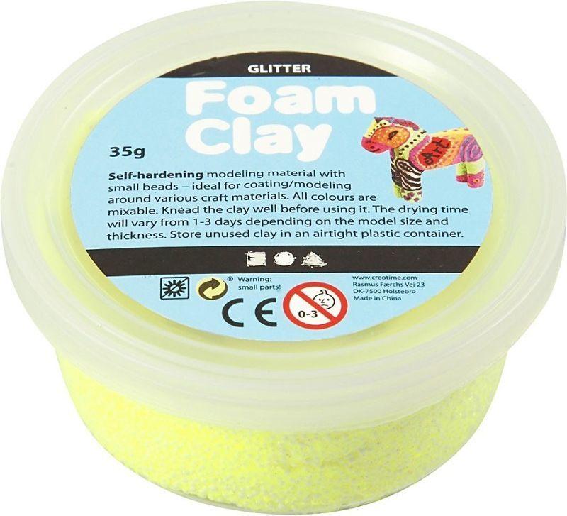 Creativ Company Masa Foam Clay Brokatowa Żółta 35 g 1