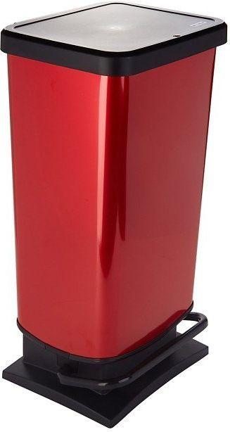 Kosz na śmieci Rotho Paso do segregacji na pedał 40L czerwony (PASO 40L raudona) 1